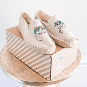 Soludos Cat Flower Crown Espadrille Flat Slip On 7